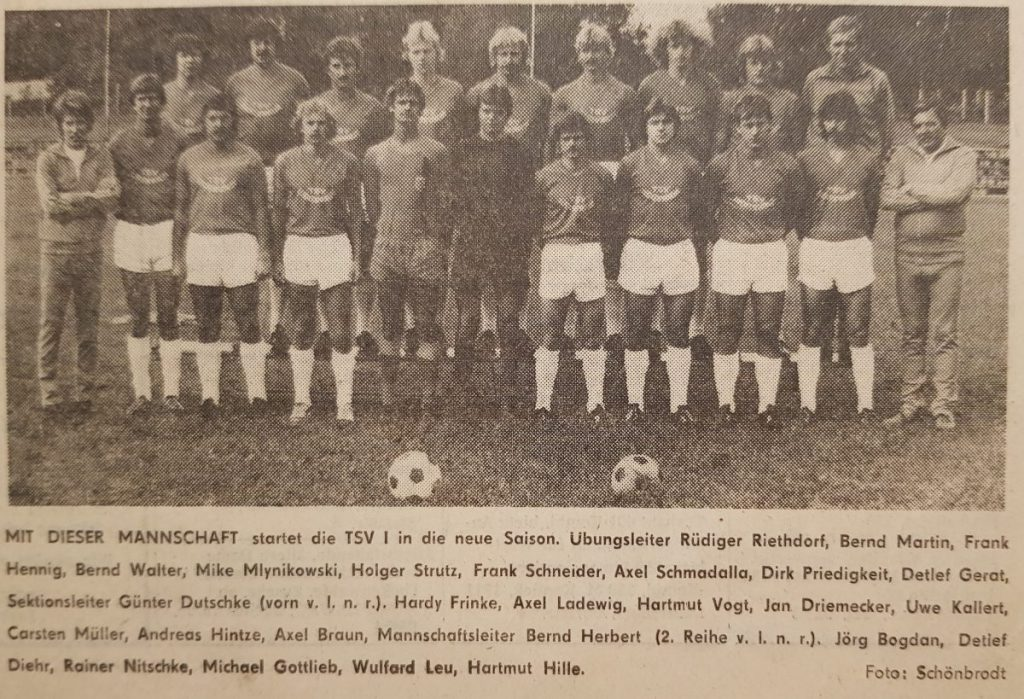 Foto der Saison 1981/82 | Carsten (hintere Reihe 4. v.r.)